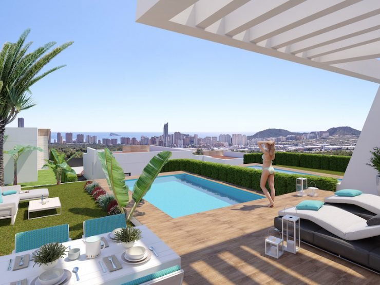 Villa with sea views in Benidorm-Finestrat, Costa Blanca North, Alicante