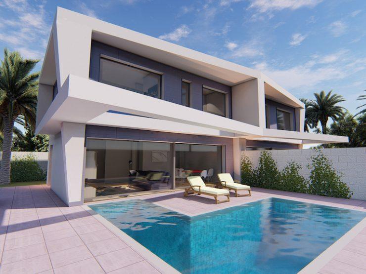 Semidetached villa in Gran Alacant, Costa Blanca South, Alicante
