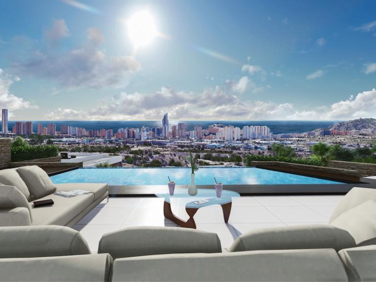 Luxury villa with sea views in Benidorm-Finestrat, Costa Blanca North, Alicante
