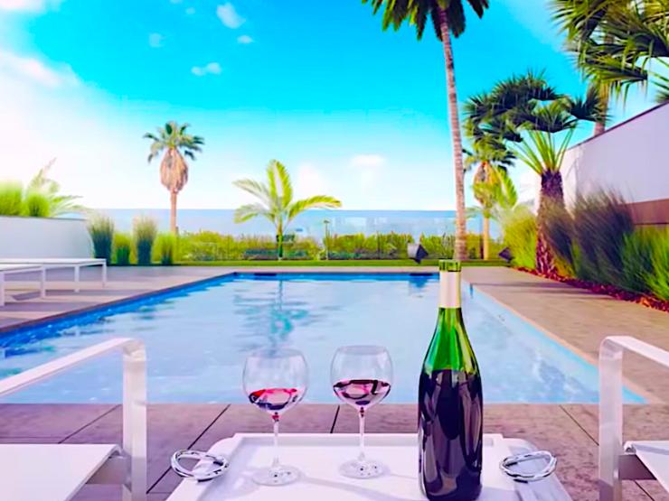 Luxury villa front line in Pilar de la Horadada, Costa Blanca South, Alicante