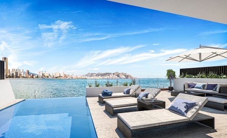 Outstanding Luxury Penthouse Duplex front line in Benidorm, Playa Poniente, Alicante, Spain