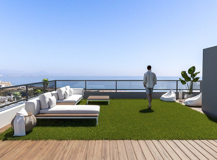 Luxury Penthouse with sea views à Gran Alacant, Costa Blanca South, Alicante, Spain