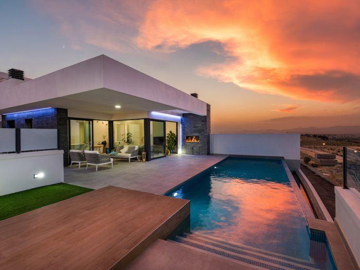 Minimalist villa with sea views in Ciudad Quesada, Costa Blanca South, Alicante, Spain