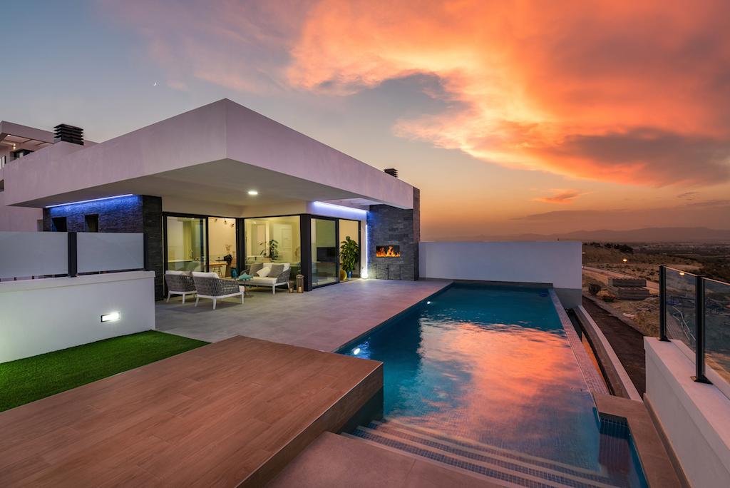 Minimalist villa with sea views in Ciudad Quesada, Costa Blanca South, Alicante, Spain