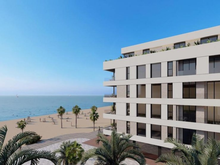 Modern apartment front line in La Mata, Costa Blanca South, Alicante, Spain