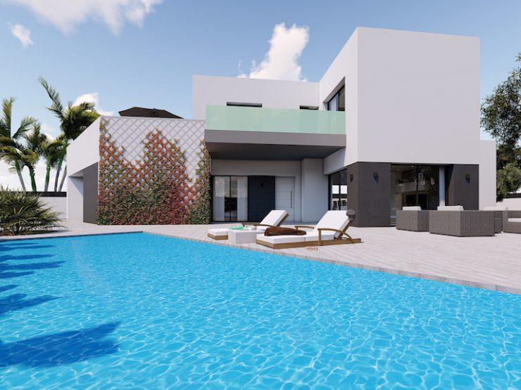 Modern villa in Benijofar, Costa Blanca South, Alicante, Spain