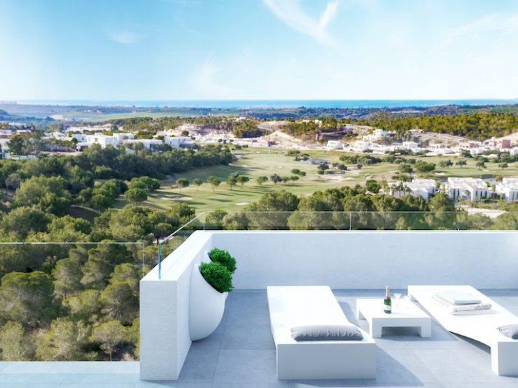 Luxury apartment in golf course with sea views in Lomas de Campoamor, Costa Blanca South, Alicante, Spain