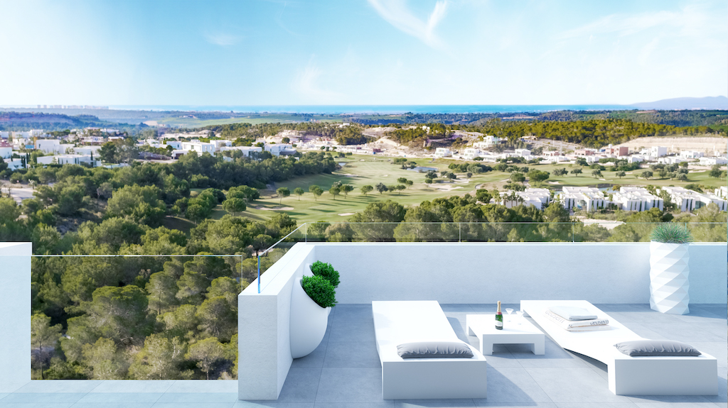 Luxury apartment in golf course with sea views in Lomas de Campoamor, Costa Blanca South, Alicante, Spain