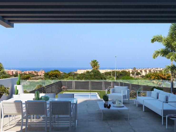 Minimalist house with sea views in Guardamar del Segura, Costa Blanca South, Alicante