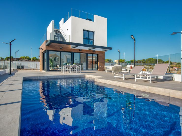 Minimalist villa with garage in Algorfa, Costa Blanca South, Alicante, Spain