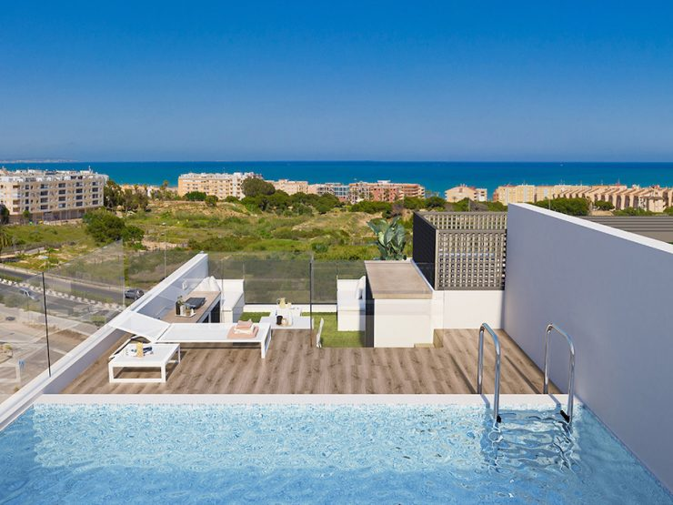 Minimalist Luxury Penthouse with sea views in Guardamar del Segura, Costa Blanca South, Alicante