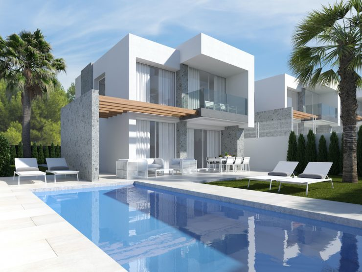 Minimalist detached villa with sea views in Benidorm-Finestrat, Costa Blanca Nord, Alicante, Spain