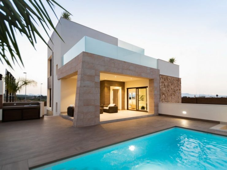 Beautiful luxury modern villa with basement in Benijofar, Costa Blanca South, Alicante, Spain