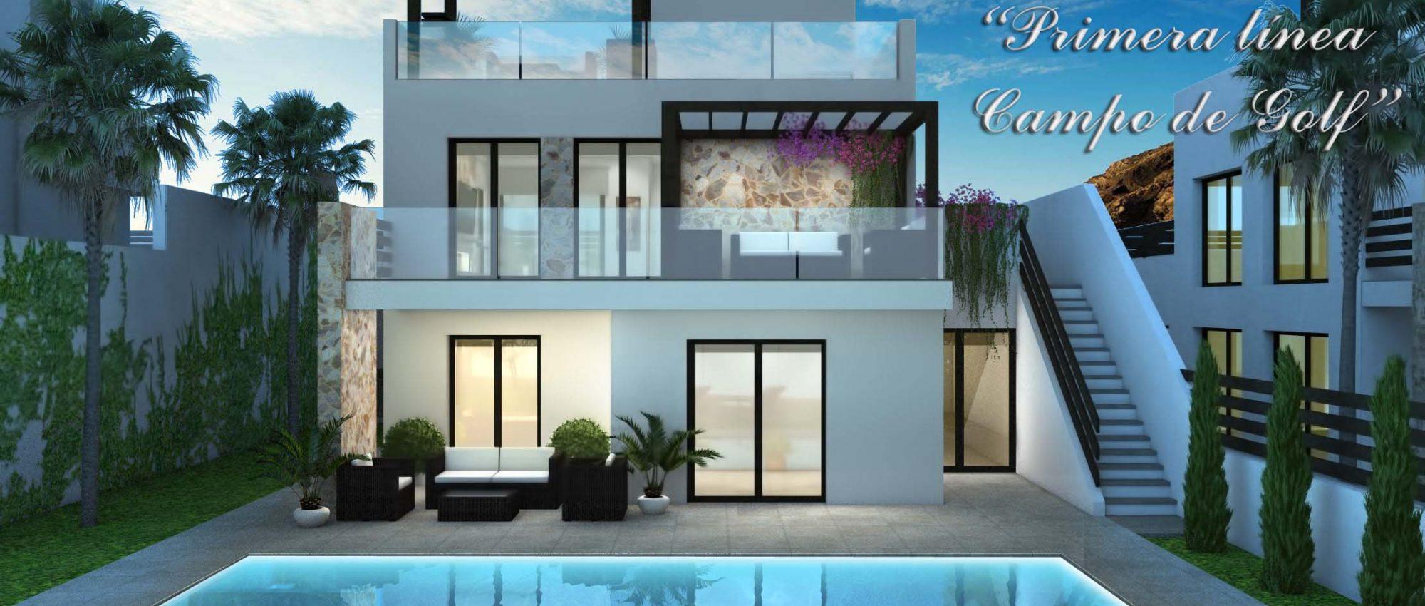 Luxury villa in Ciudad Quesada front line Golf Course, Costa Blanca South, Alicante, Spain