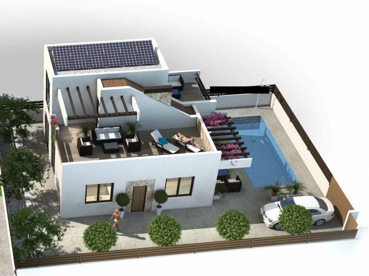 Modern villa next to Golf Course in Ciudad Quesada, Costa Blanca South, Alicante, Spain
