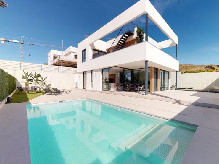 Magnífico chalet minimalista con sótano en Finestrat, Costa Blanca Norte, Alicante, España