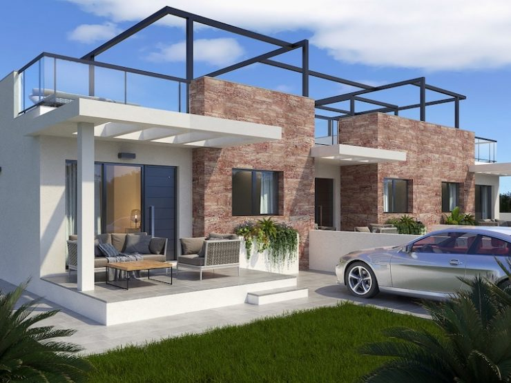 Semi-detached house with solarium and basement near to the beach in Milpalmeras, Alicante, Spain
