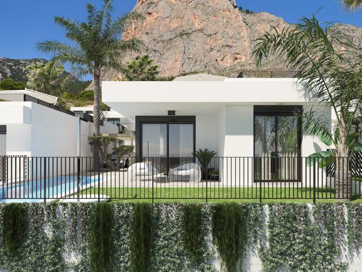 Villa de style moderne avec vue sur la mer à Polop, Costa Blanca Nord, Alicante, Espagne