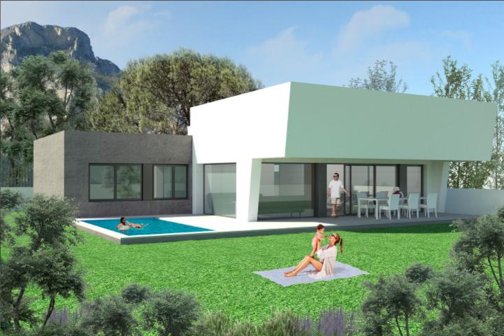 Villa de lujo con excelentes vistas al mar en Polop, Costa Blanca Norte, Alicante, España