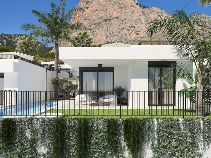 Modern style Villa with sea views in Polop, Costa Blanca North, Alicante, Spain