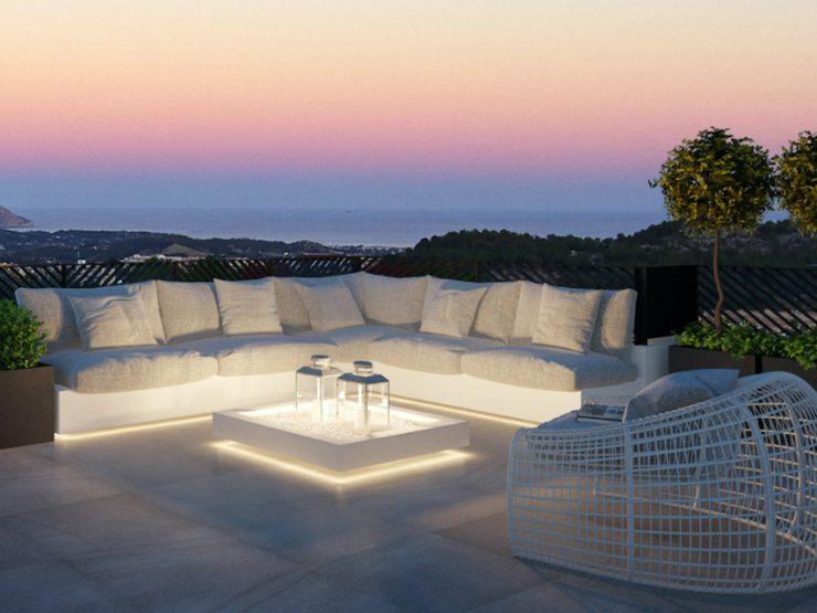 Maison de style moderne exceptionnelle avec de superbes vues sur la mer à Polop, Costa Blanca Nord, Alicante, Espagne