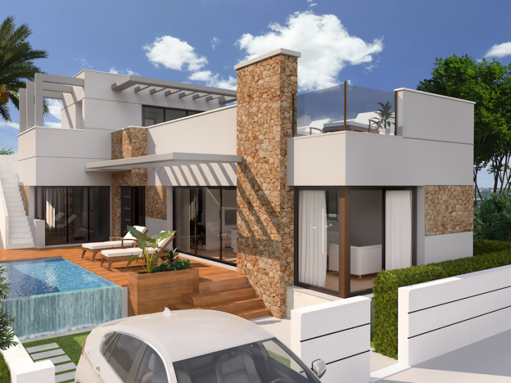 Great bargain! Minimalist detached villa in Benijofar, Costa Blanca South, Alicante