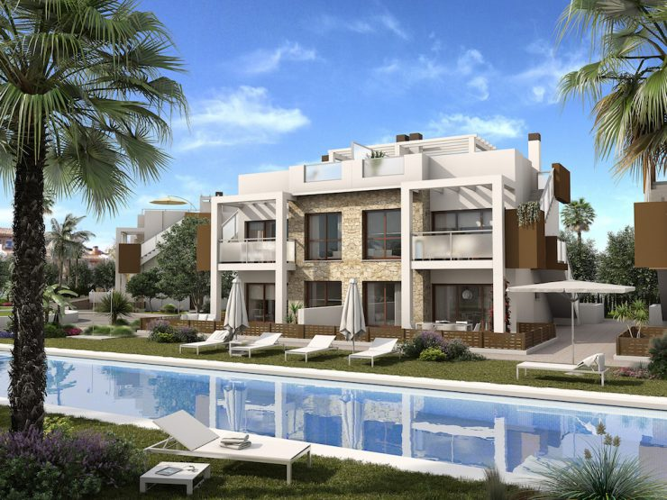 Modern style apartment on ground floor in Torrevieja, Costa Blanca South, Alicante, Spain
