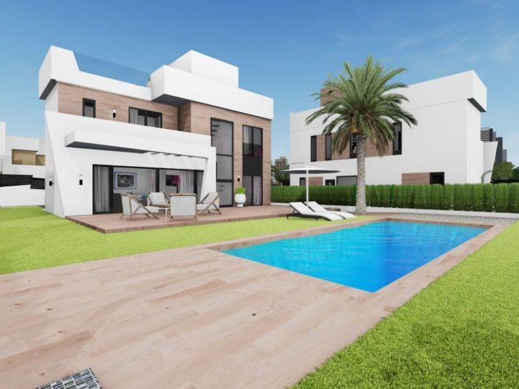 Beautiful minimalist villa in Finestrat,  Costa Blanca North, Alicante, Spain