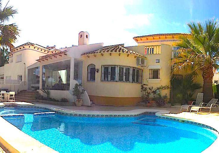 Beautiful Mediterranean style villa at golf course in Lomas de Campoamor, Alicante South, Spain
