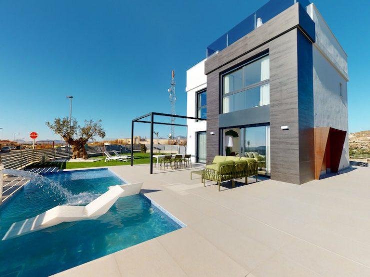 Outstanding minimalist villa with great views in San Juan de Alicante, Costa Blanca North, Alicante, Spain