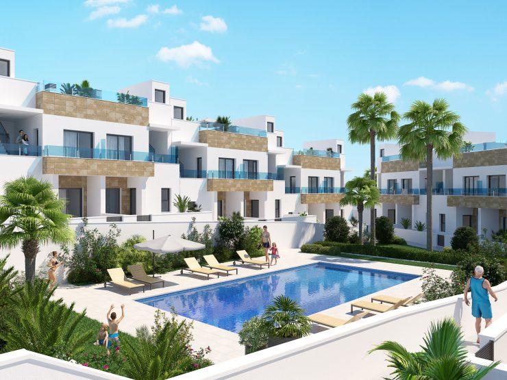 Modern style Townhouse with solarium in Bigastro, Costa Blanca South, Alicante, Spain