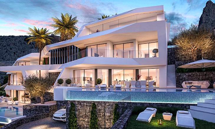 Luxury villa with great sea and mountain views in Altea, Costa Blanca North, Alicante, Spain