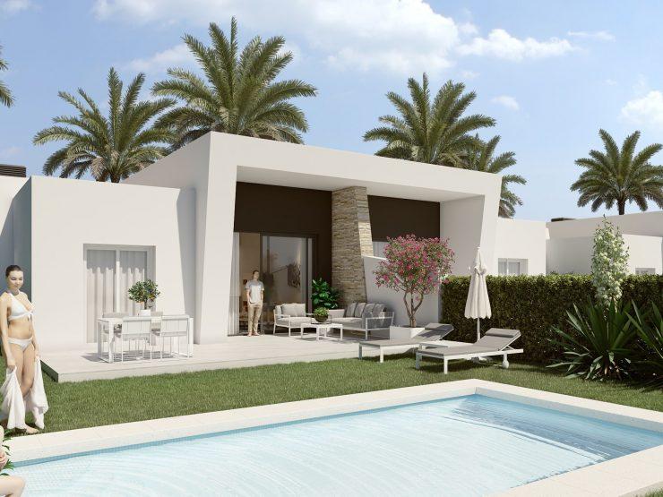 Maison jumelée minimaliste à côté d'un terrain de golf à Algorfa, Costa Blanca Sud, Alicante, Espagne