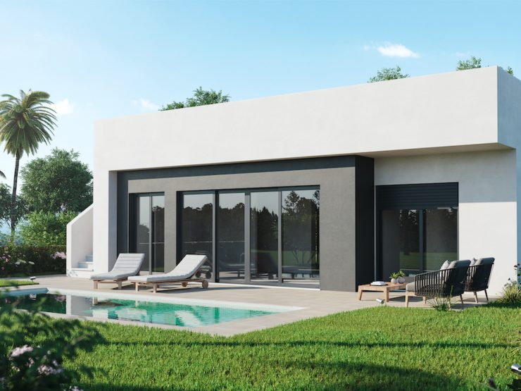 Great price for this minimalist villa in Alhama Golf, Murcia, Spain