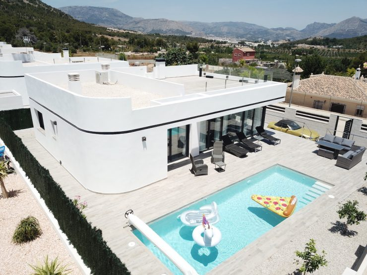 Fantastic modern villa with basement in Polop, Costa Blanca North, Alicante, Spain