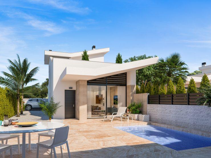 Modern style semi-detached villa in Benijofar, Costa Blanca South, Alicante, Spain