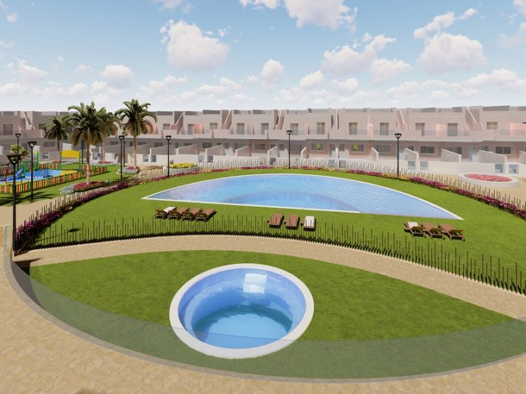 Beautiful modern townhouse placed 200 meters to the beach in Pilar de la Horadada, Costa Blanca South, Alicante, Spain