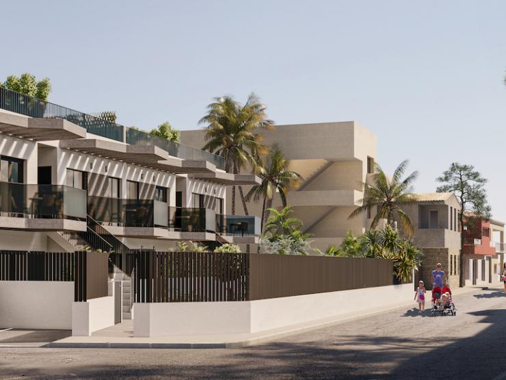 Top floor apartment with solarium next to the beach in Santiago de la Ribera, Costa Calida, Murcia, Spain