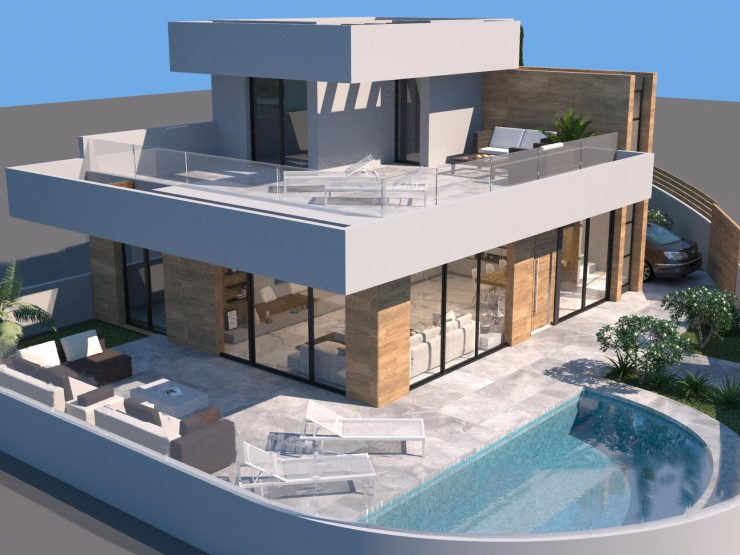 Outstanding luxury villa with great golf view and with basement in Ciudad Quesada , Costa Blanca South, Alicante, Spain