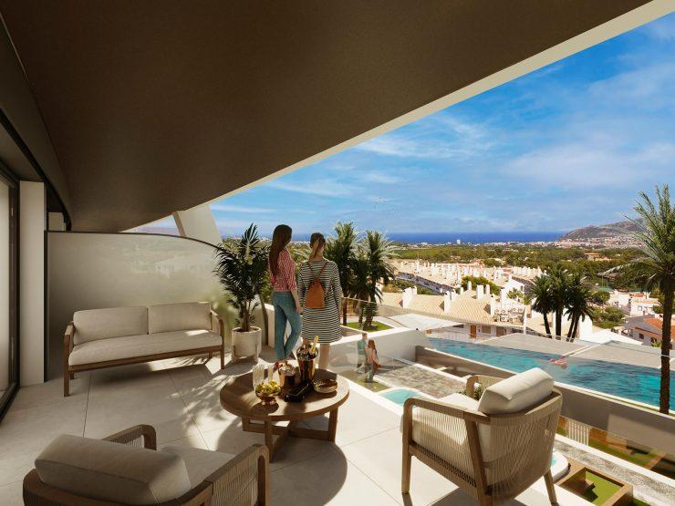 Outstanding apartment with sea view in Alfas del Pi, Costa Blanca North, Alicante, Spain