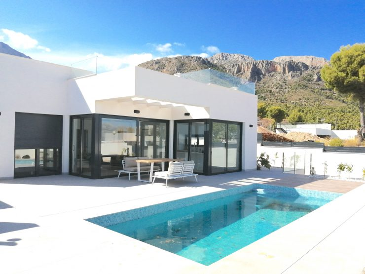 Modern style Villa with sea view in Polop, Costa Blanca North, Alicante, Spain